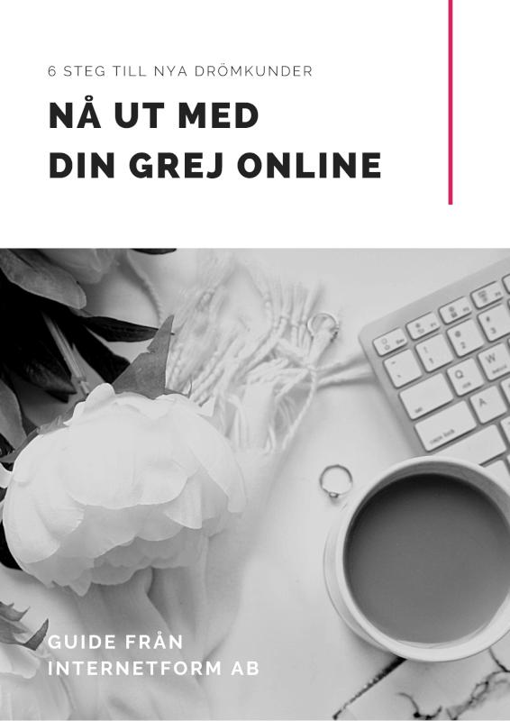 Nå ut med din grej online