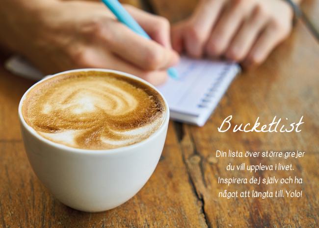 Vill du skriva en bucketlist? På flowochchillkorten finns ett kort där du gör din bucketlist.
