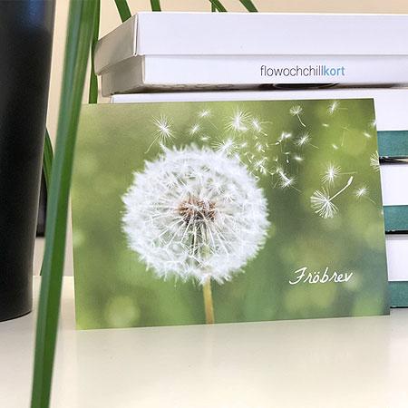 Flowochchillkort - Skicka ett fröbrev
